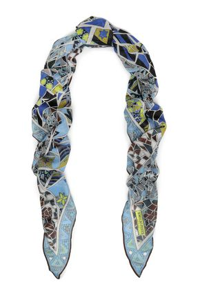 EMILIO PUCCI Printed cashmere and silk-blend scarf