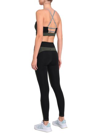 PURITY ACTIVE Two-tone tech-jersey leggings