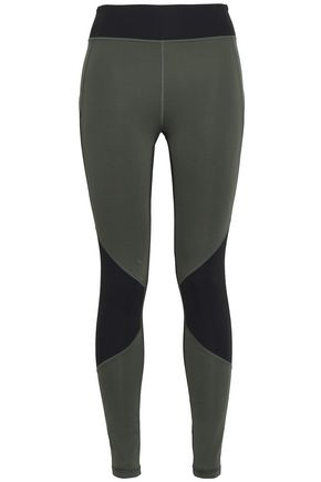 Two Tone Tech Jersey Leggings by Purity Active