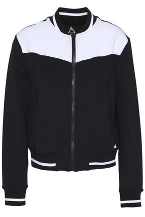 PURITY ACTIVE Two-tone tech-jersey track jacket