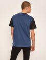 ARMANI EXCHANGE LOOSE-FIT COLLEGIATE PRINT CREWNECK TEE Graphic T-shirt [*** pickupInStoreShippingNotGuaranteed_info ***] e