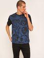 ARMANI EXCHANGE LOOSE-FIT COLLEGIATE PRINT CREWNECK TEE Graphic T-shirt [*** pickupInStoreShippingNotGuaranteed_info ***] f