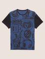 ARMANI EXCHANGE LOOSE-FIT COLLEGIATE PRINT CREWNECK TEE Graphic T-shirt [*** pickupInStoreShippingNotGuaranteed_info ***] r