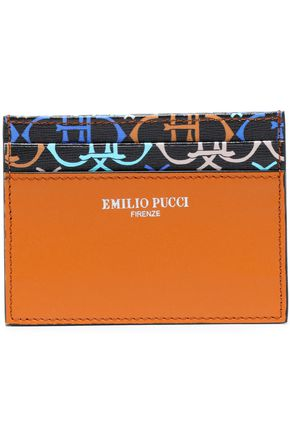 EMILIO PUCCI Printed leather cardholder