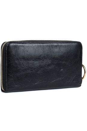 SEE BY CHLOÉ Cracked-leather wallet
