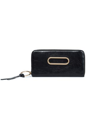 SEE BY CHLOÉ Cracked-leather continental wallet