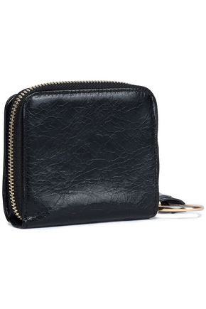 SEE BY CHLOÉ Cracked-leather coin purse