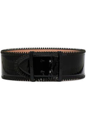 ALAÏA Laser cut-trimmed patent-leather belt