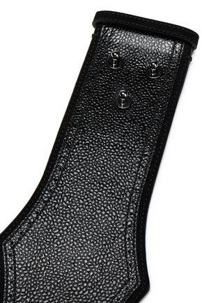 ALAÏA Scalloped textured-leather belt