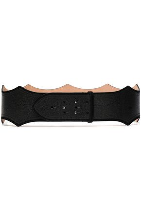 ALAÏA Scalloped textured-leather belt