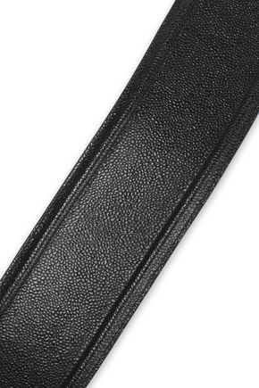 ALAÏA Textured-leather belt
