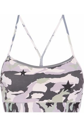 MONROW Printed stretch sports bra