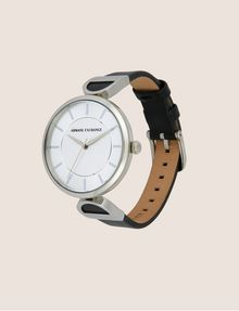ARMANI EXCHANGE Reloj con correa de cuero y detalle de logo Fashion Watch [*** pickupInStoreShipping_info ***] d