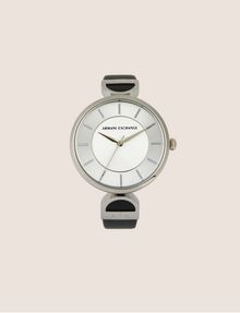 ARMANI EXCHANGE Reloj con correa de cuero y detalle de logo Fashion Watch [*** pickupInStoreShipping_info ***] f