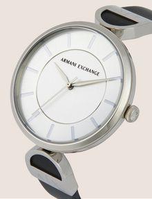 ARMANI EXCHANGE Reloj con correa de cuero y detalle de logo Fashion Watch [*** pickupInStoreShipping_info ***] r