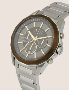 ARMANI EXCHANGE CHRONOGRAPH BRASS-TONED STAINLESS STEEL BRACELET WATCH Fashion Watch [*** pickupInStoreShippingNotGuaranteed_info ***] r