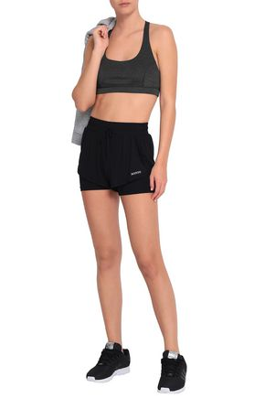 BODYISM Clare layered stretch-jersey shorts