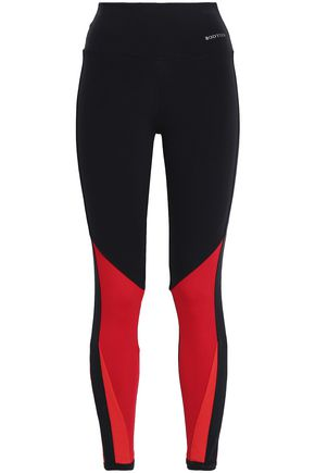 BODYISM I Am Feisty mesh-paneled stretch-jersey leggings