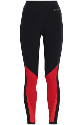 BODYISM I Am Feisty mesh-paneled stretch-jersey leggings