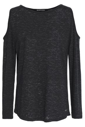 BODYISM Kelly cold-shoulder slub cotton-blend jersey top
