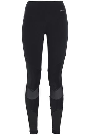 BODYISM Mesh-paneled stretch leggings