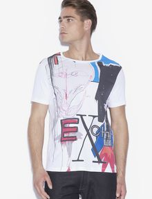 ARMANI EXCHANGE MEN'S STREET ART BY ANDREA MARCACCINI CREWNECK TEE Graphic T-shirt Man f