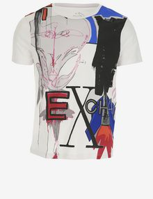 ARMANI EXCHANGE MEN'S STREET ART BY ANDREA MARCACCINI CREWNECK TEE Graphic T-shirt Man r