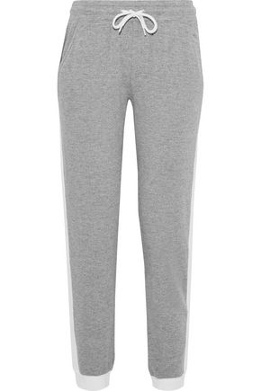 MONROW Mélange French terry track pants