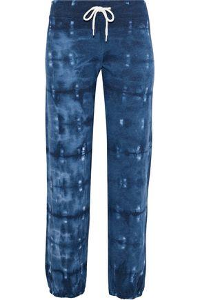 MONROW Tie-dyed fleece track pants