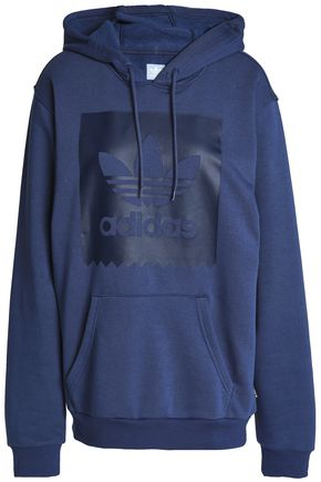 ADIDAS Printed cotton-fleece hooded sweatshirt