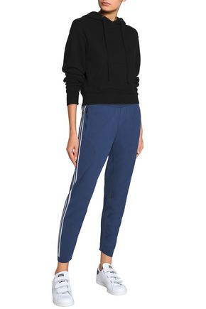ADIDAS Cropped knitted track pants