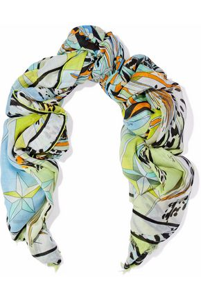 EMILIO PUCCI Printed modal and cashmere-blend scarf