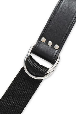 IRO Leather and woven belt