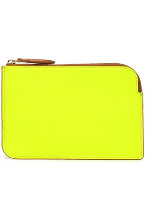 DIANE VON FURSTENBERG Color-block neon leather pouch