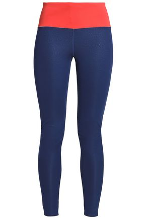 ADIDAS Two-tone printed stretch leggings