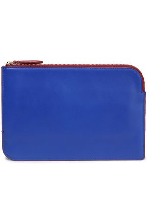 DIANE VON FURSTENBERG Metallic leather pouch
