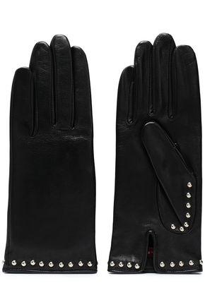 AGNELLE スタッズ付き レザー 手袋