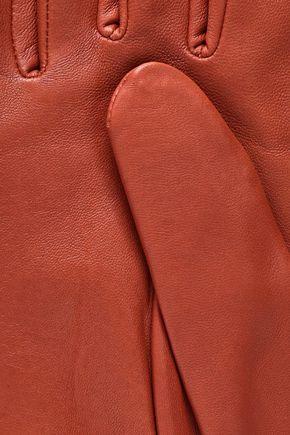 AGNELLE Celine snap-detailed leather gloves