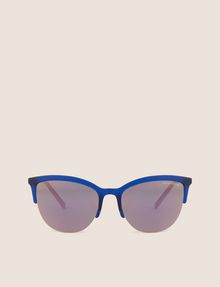 ARMANI EXCHANGE PINK MIRRORED LENS HALF-FRAME CAT EYE Sunglass Woman r