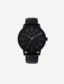ARMANI EXCHANGE Uhr mit glattem Lederband Uhr Herren f