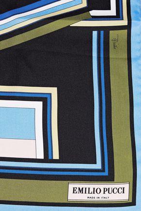 EMILIO PUCCI Printed silk-twill scarf