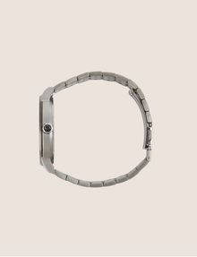 ARMANI EXCHANGE PINSTRIPED GUNMETAL-TONED BRACELET WATCH Fashion Watch [*** pickupInStoreShippingNotGuaranteed_info ***] a