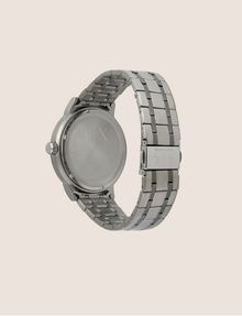 ARMANI EXCHANGE PINSTRIPED GUNMETAL-TONED BRACELET WATCH Fashion Watch [*** pickupInStoreShippingNotGuaranteed_info ***] e