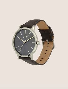 ARMANI EXCHANGE MINIMALIST BROWN LEATHER BAND WATCH Watch Man d