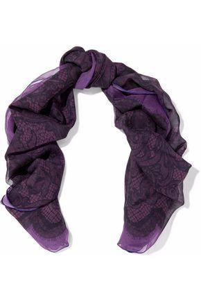 EMILIO PUCCI Printed silk-georgette scarf