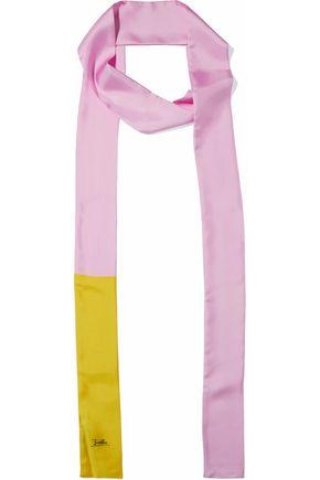 EMILIO PUCCI Two-tone silk-twill scarf