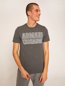 ARMANI EXCHANGE SLIM-FIT MESH PRINT CREW Logo T-shirt [*** pickupInStoreShippingNotGuaranteed_info ***] f