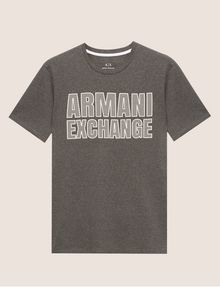 ARMANI EXCHANGE SLIM-FIT MESH PRINT CREW Logo T-shirt [*** pickupInStoreShippingNotGuaranteed_info ***] r