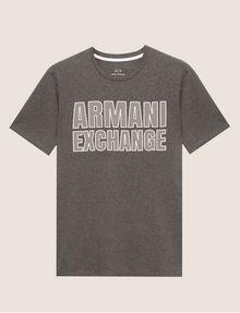 ARMANI EXCHANGE SLIM-FIT MESH PRINT CREW Logo T-shirt Man r