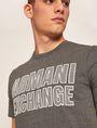 ARMANI EXCHANGE SLIM-FIT MESH PRINT CREW Logo T-shirt Man b